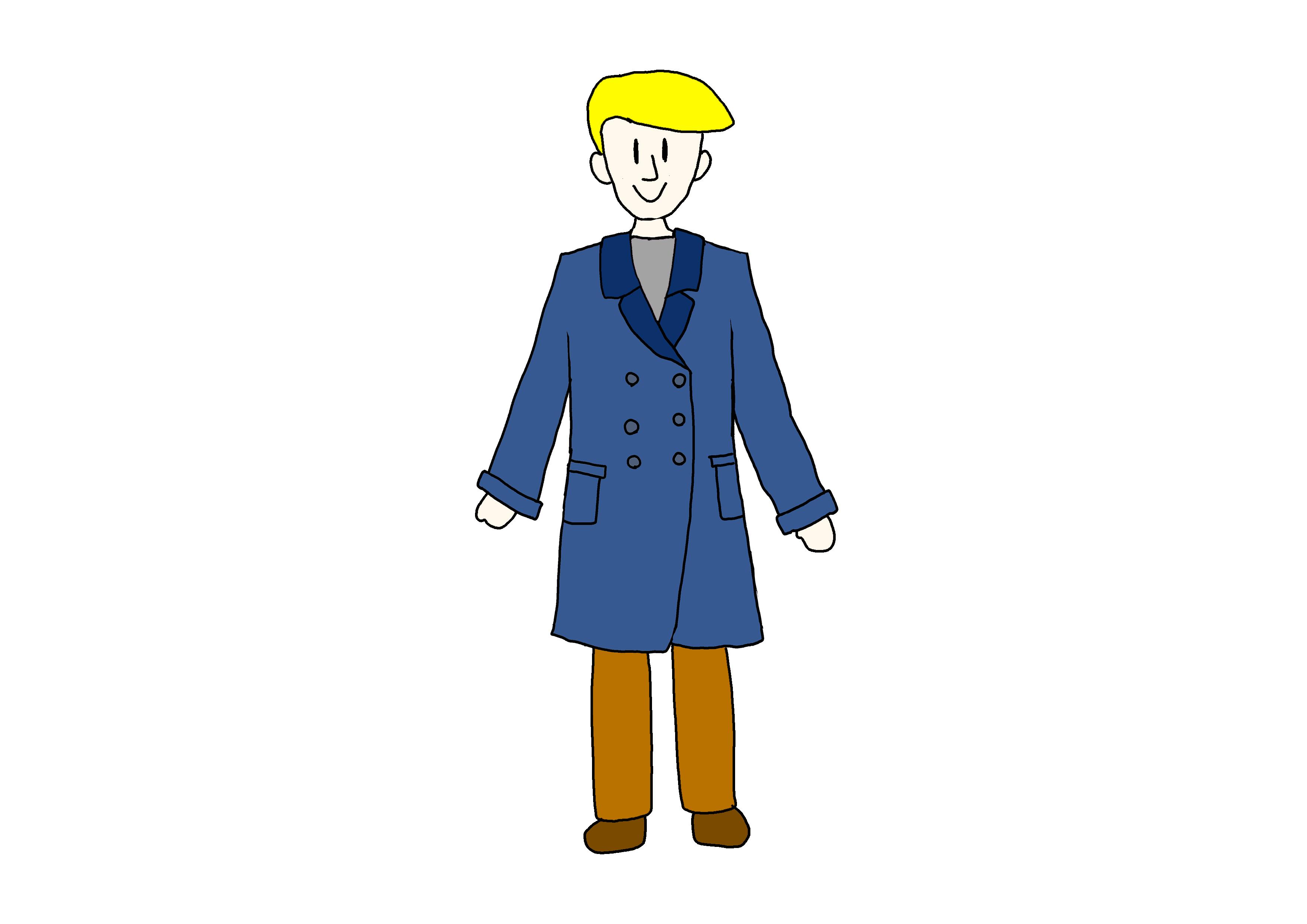 イラスト【コートを着ている人】