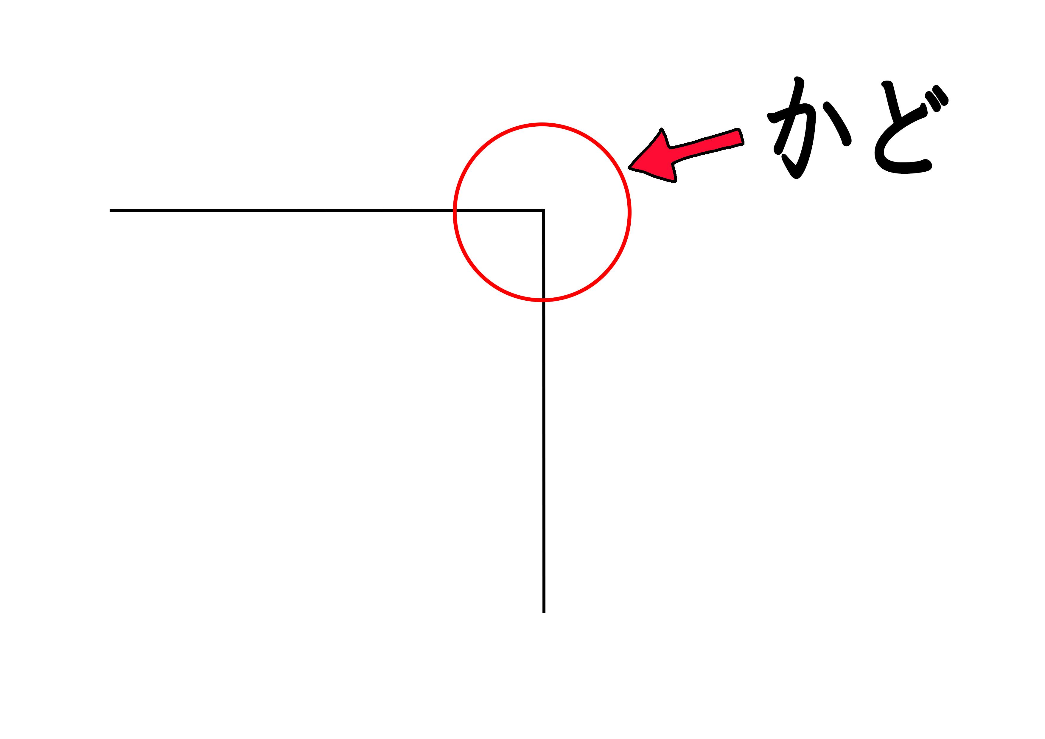 イラスト【かど】