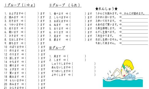 みんなの日本語27課-可能形