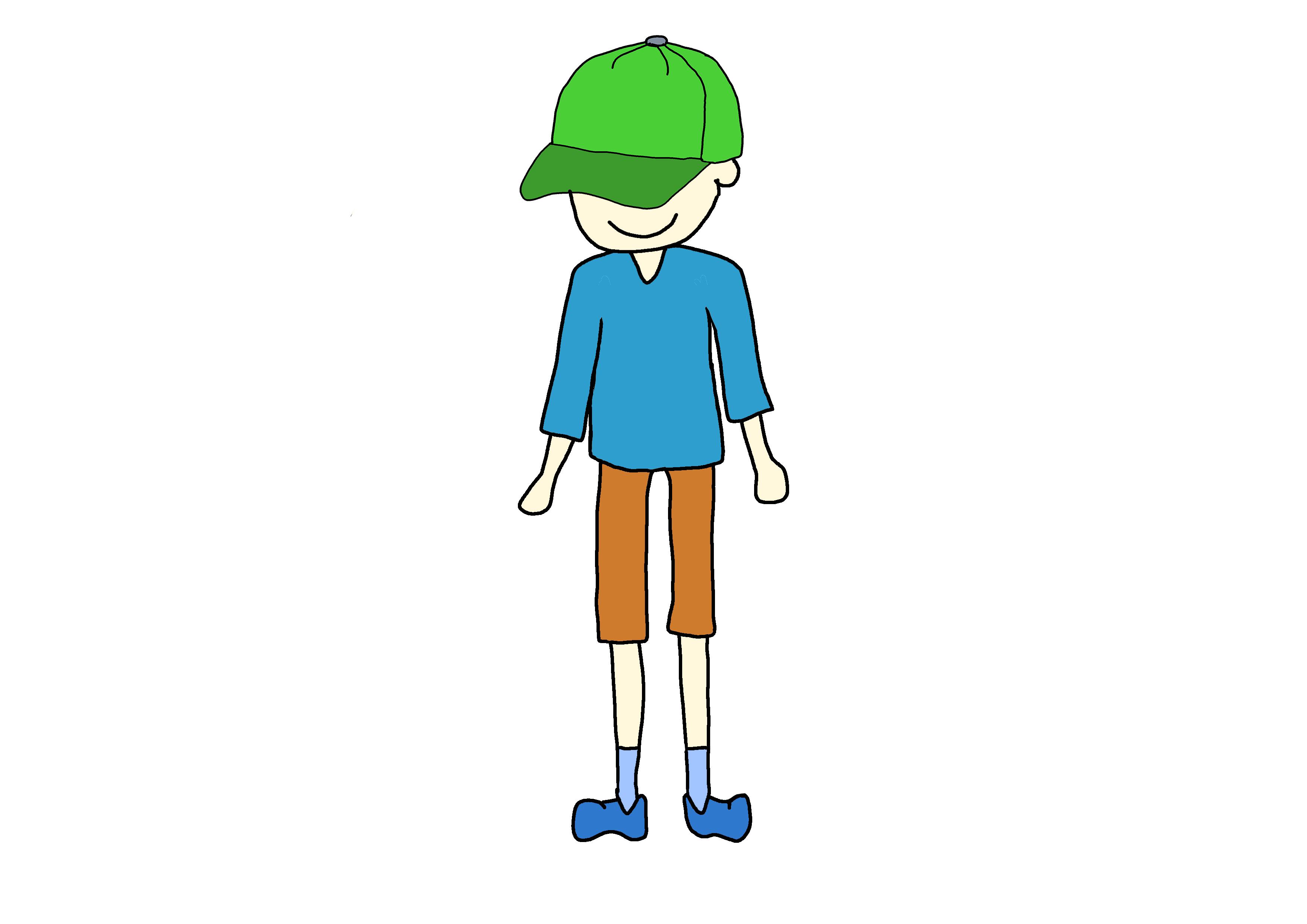 イラスト【帽子をかぶっている少年】