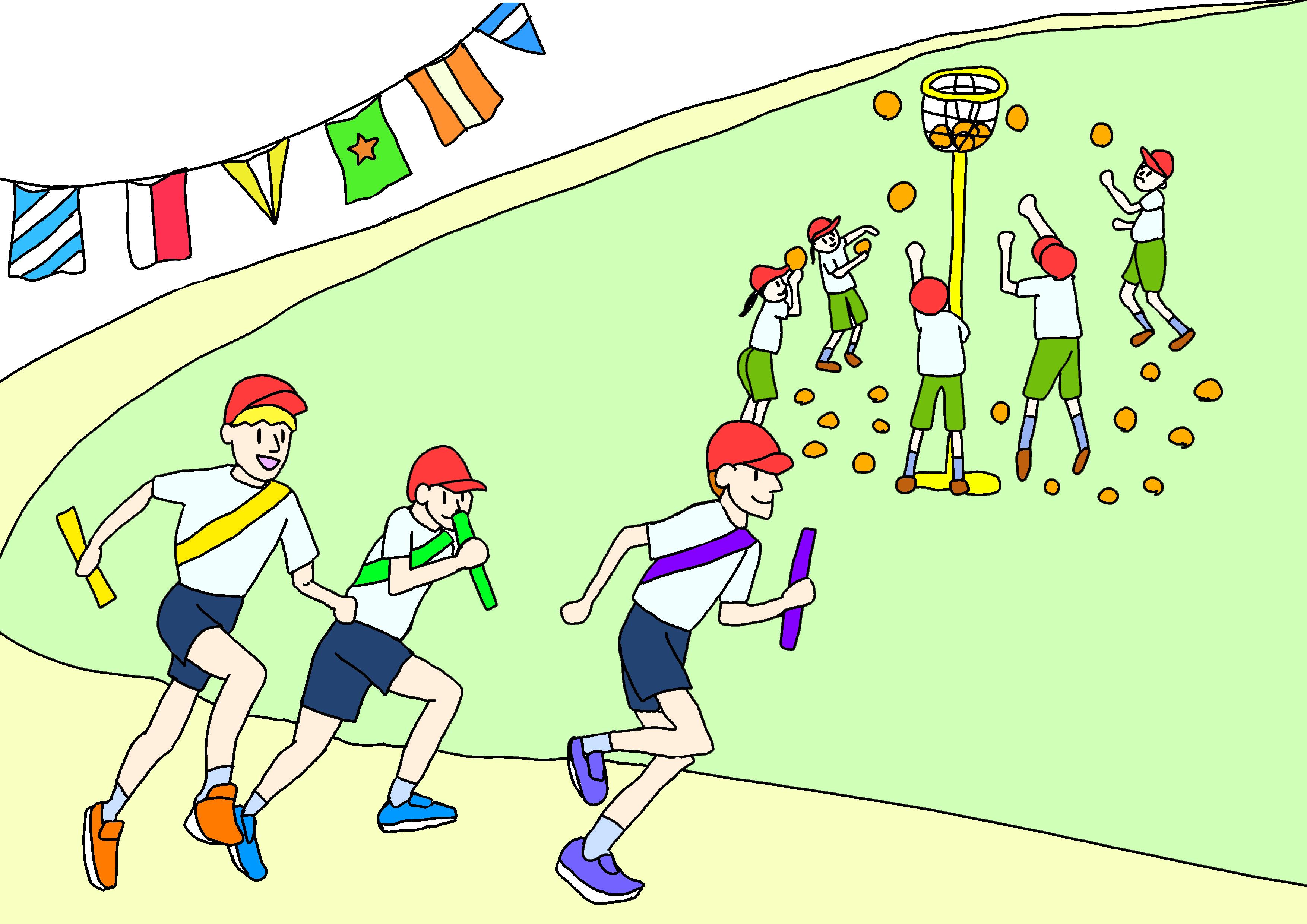 26課イラスト【運動会】