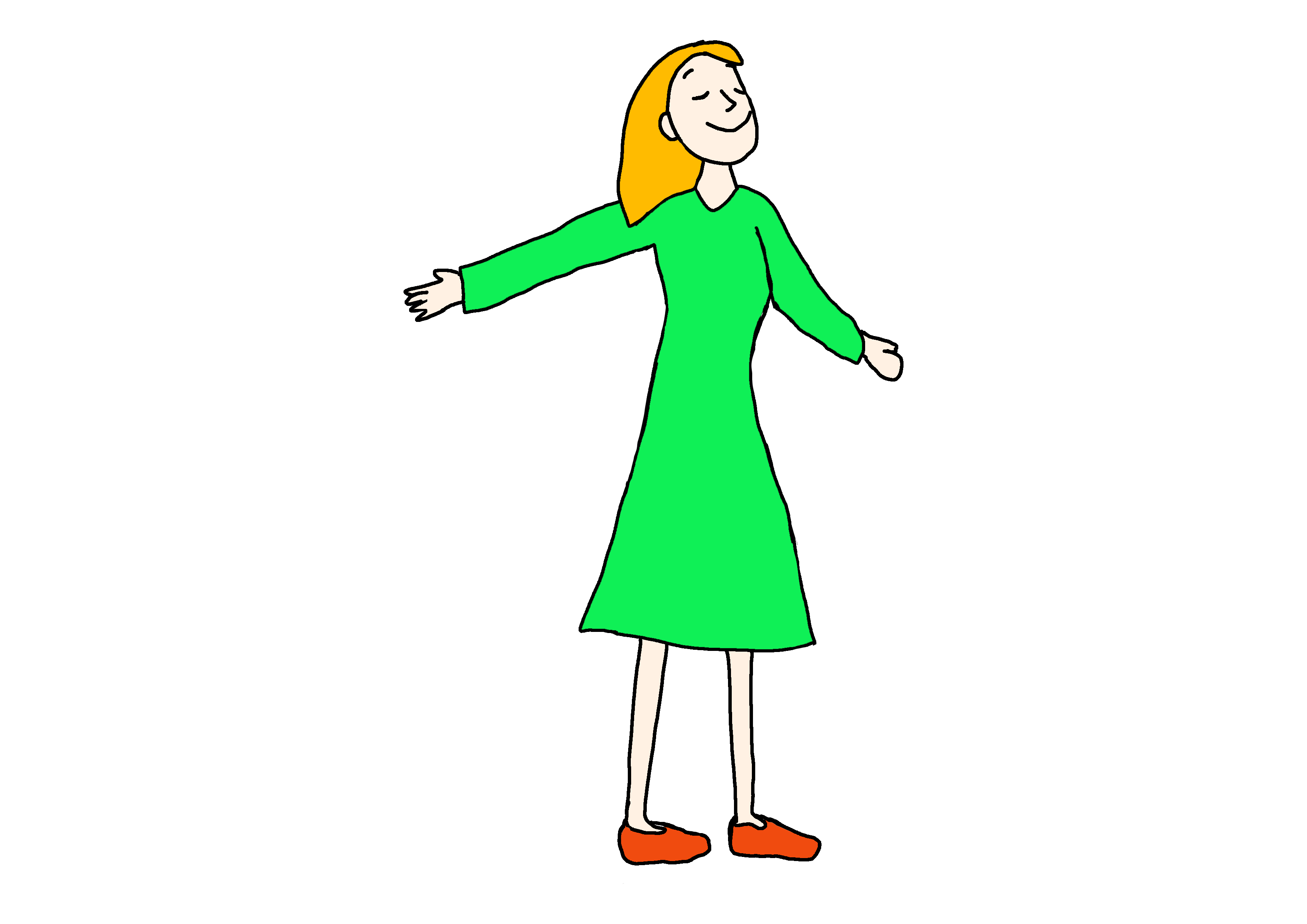 26課イラスト【気分がいい】