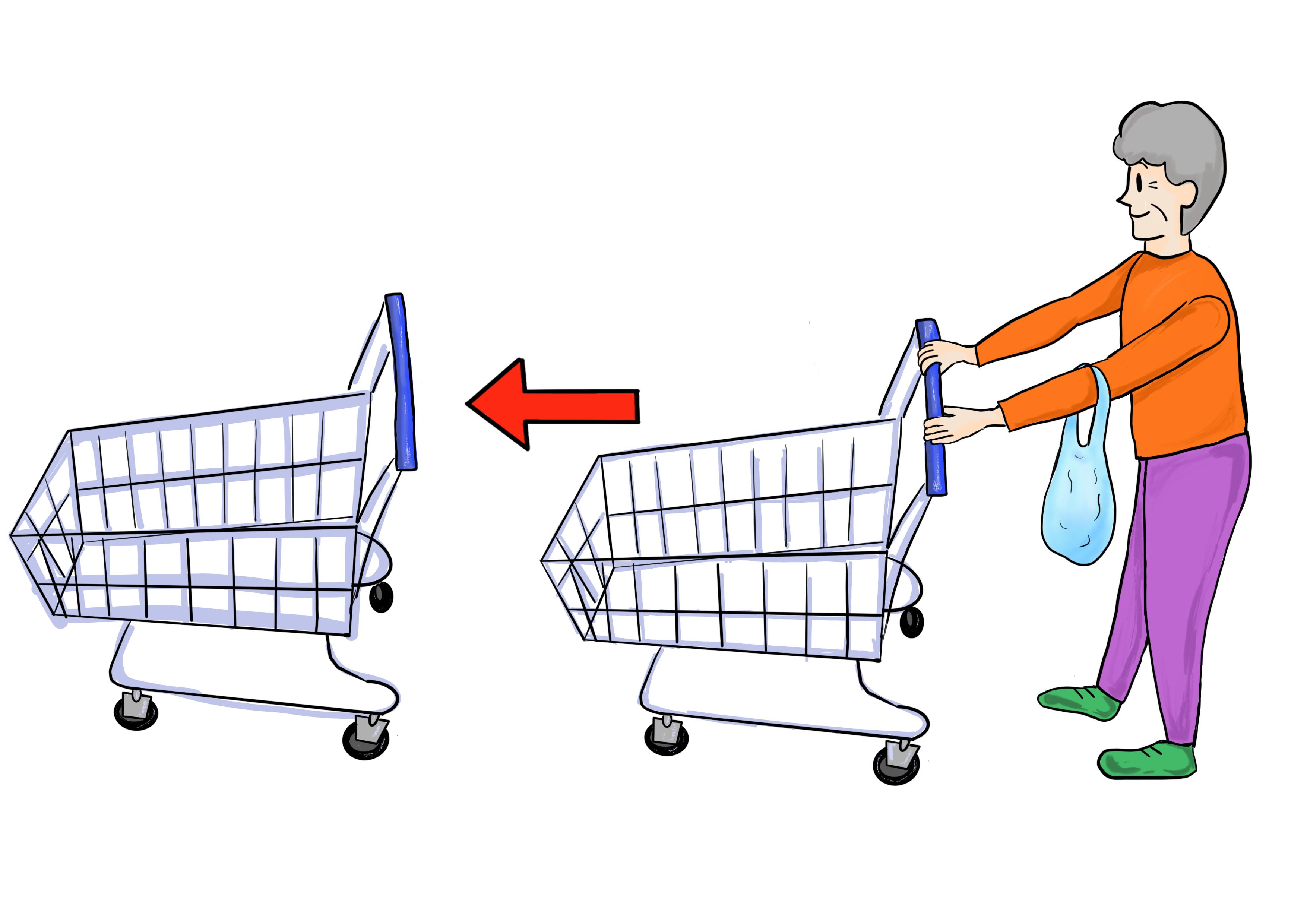 30課イラスト【ショッピングカートを戻す】