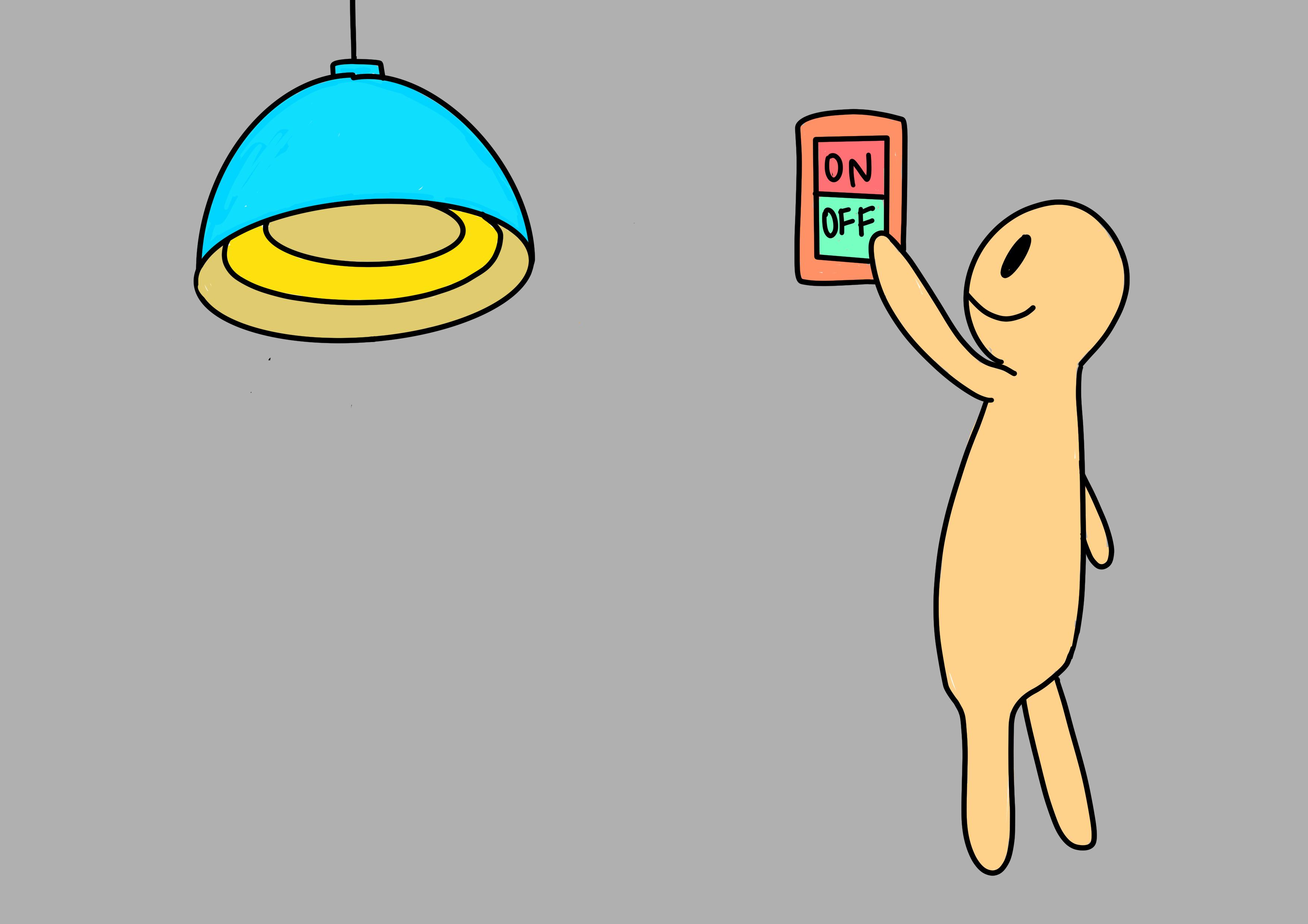 29課イラスト【電気を消す】