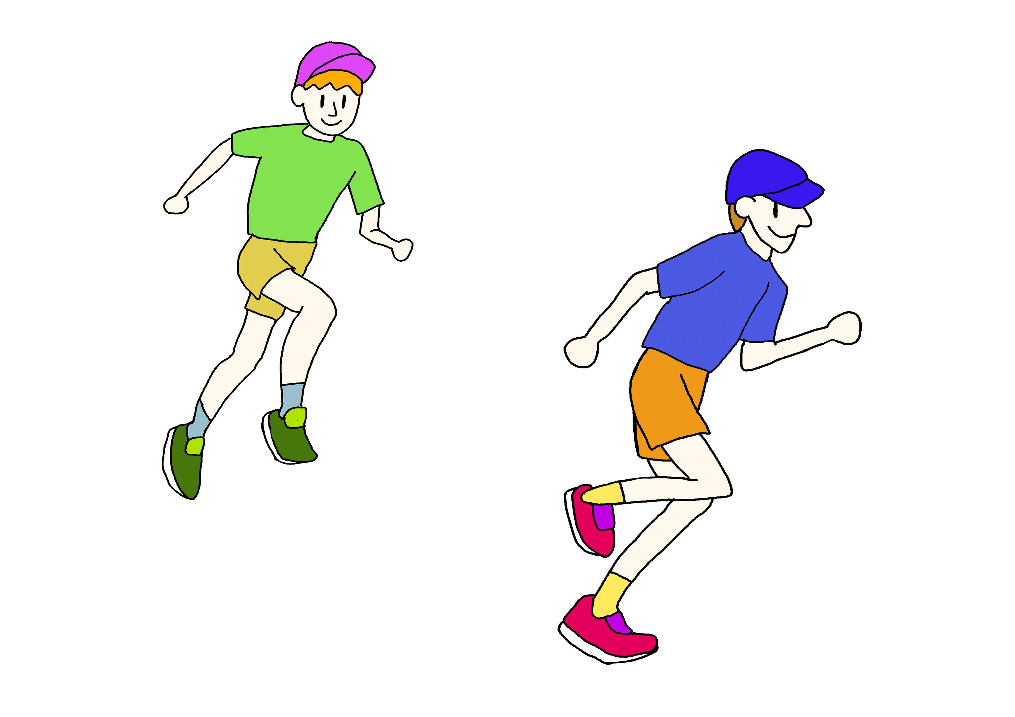 27課イラスト【走る】