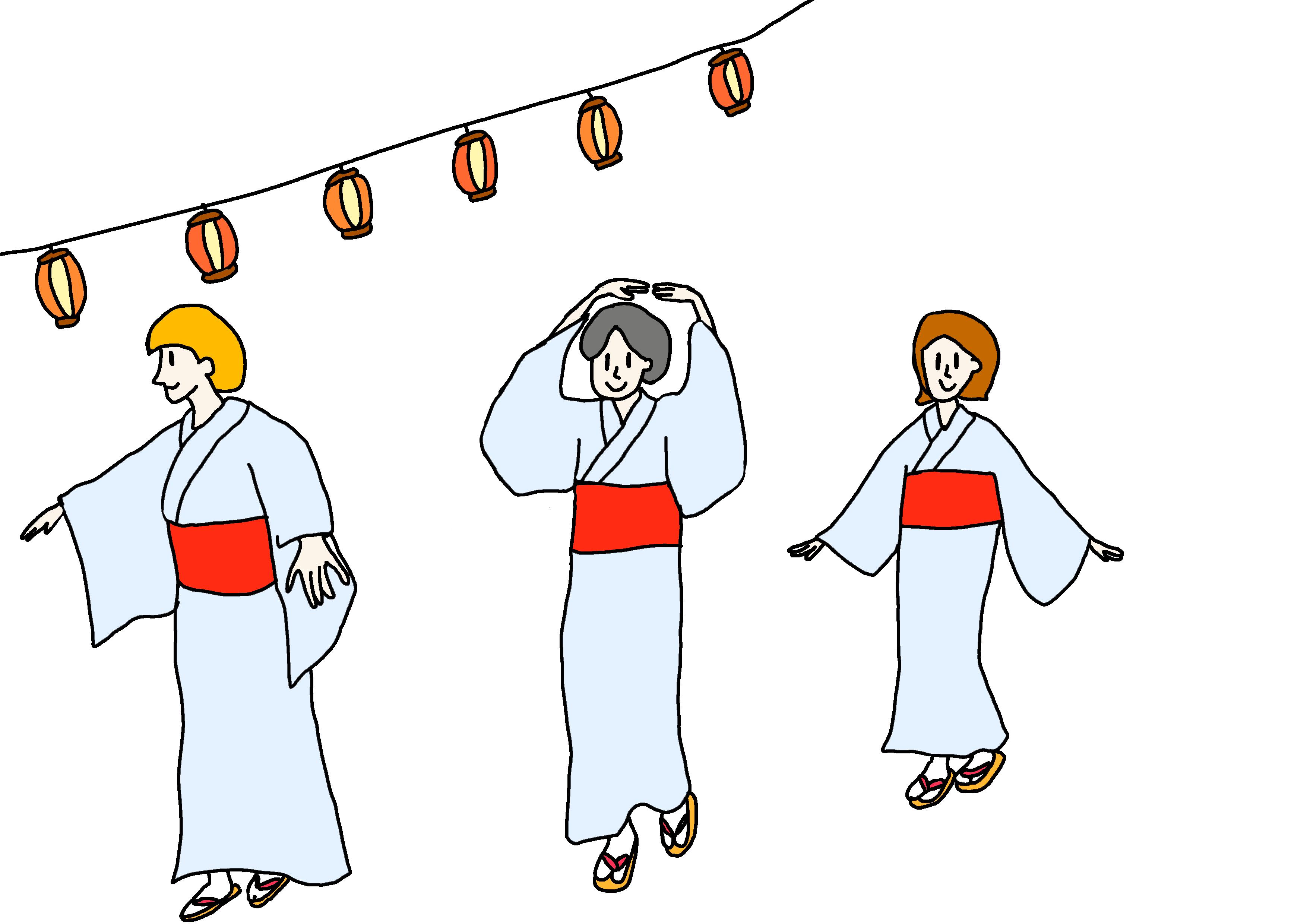 26課イラスト【盆踊り】