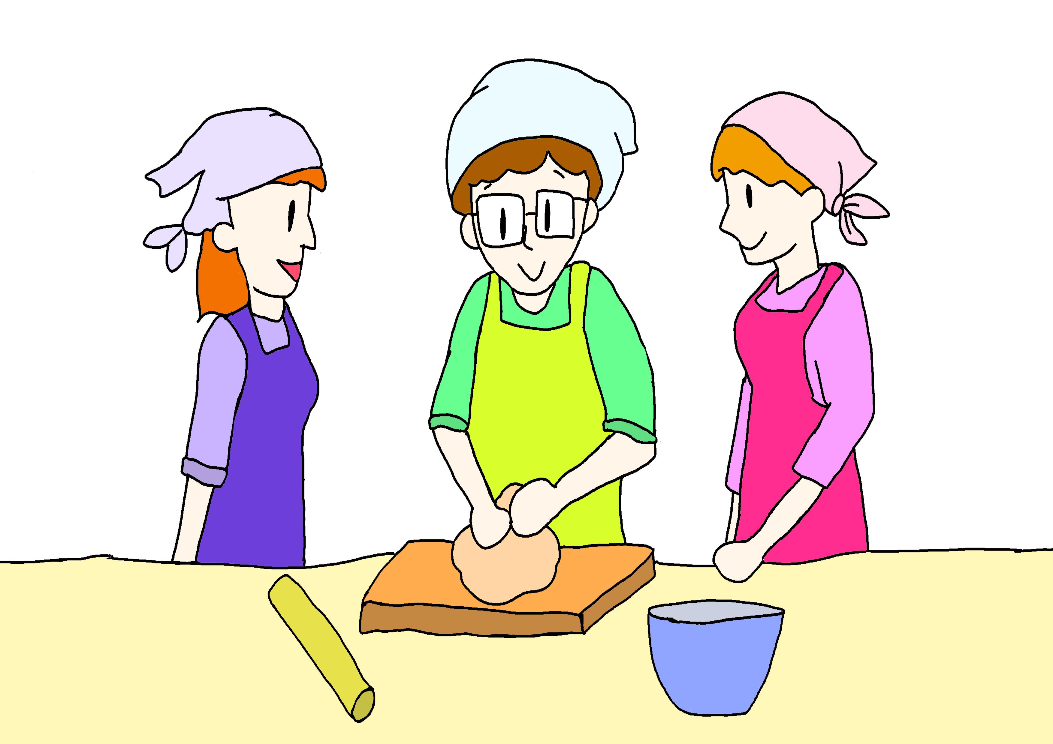 27課イラスト【料理教室を開く】
