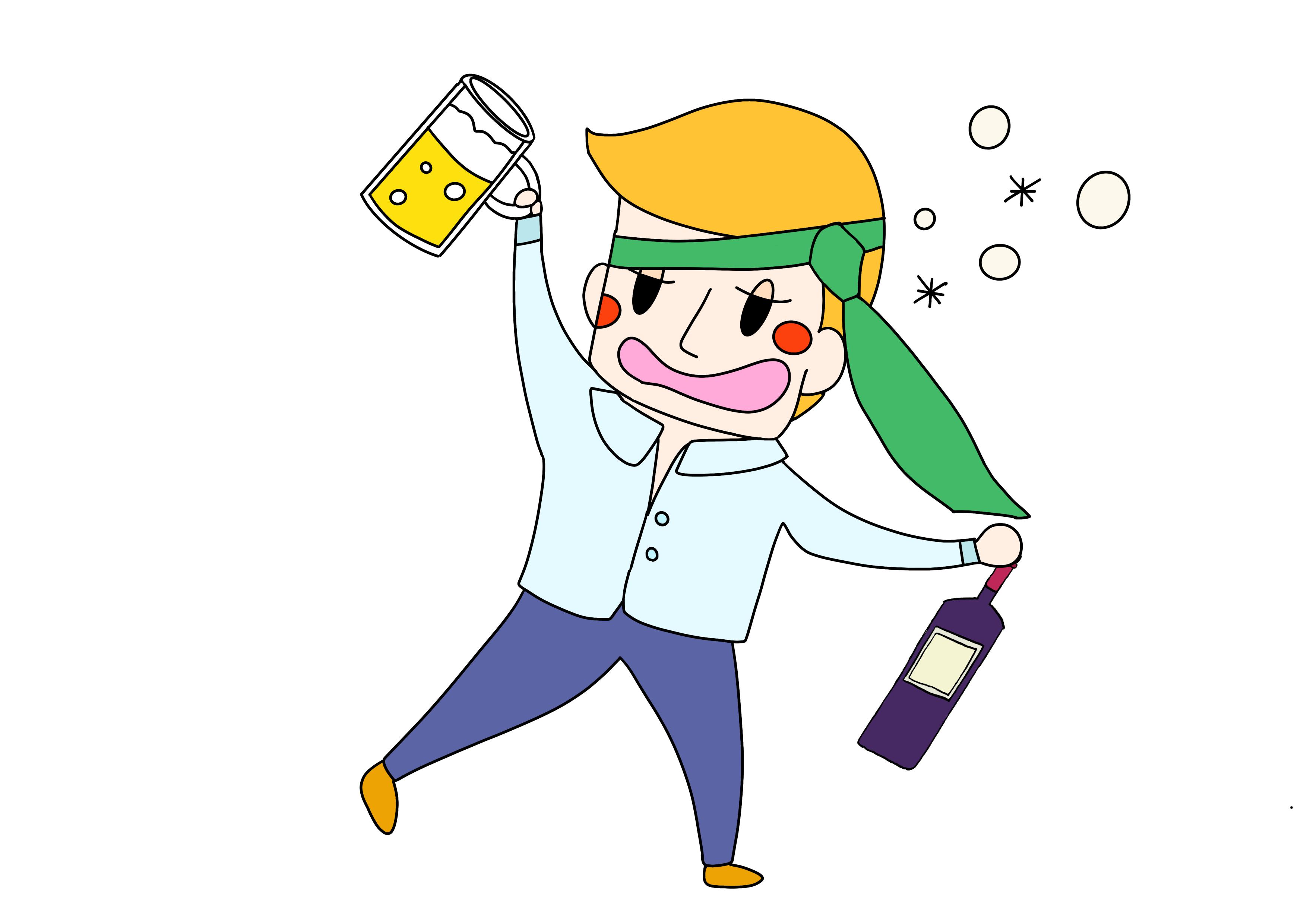 40課イラスト【酔う/酔っ払い】