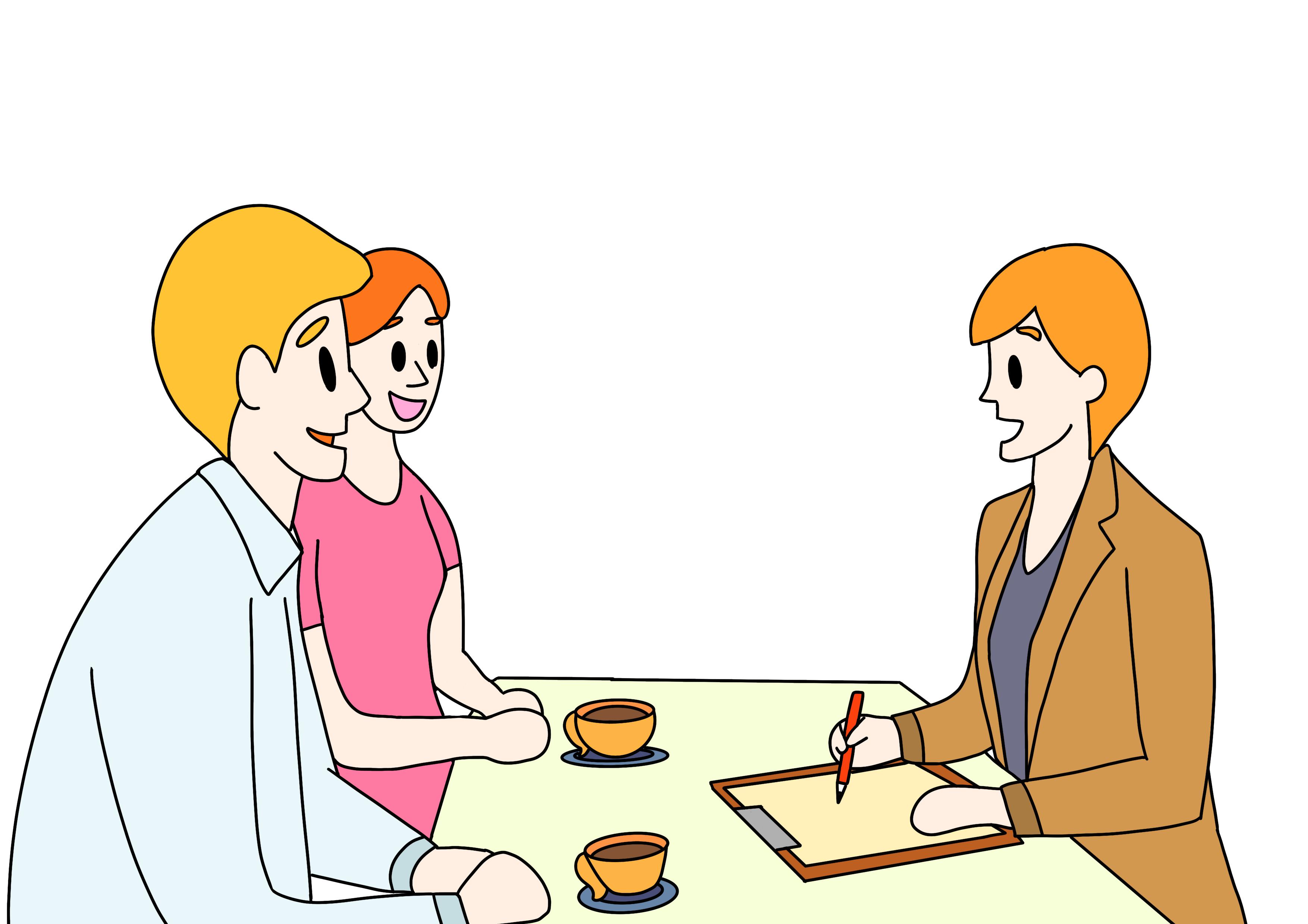 40課イラスト【相談する/カウンセリング】