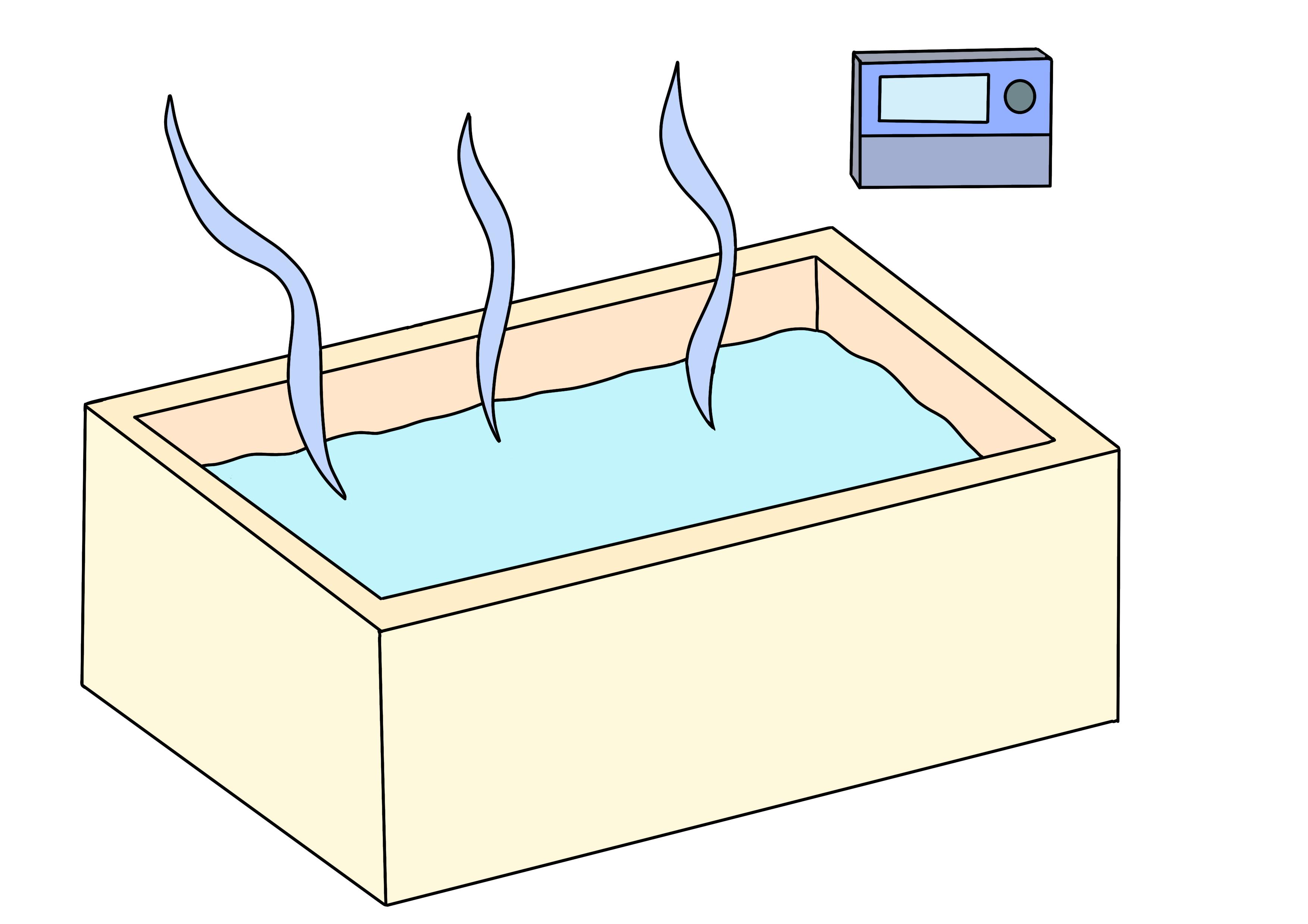 42課イラスト【お風呂が沸く】