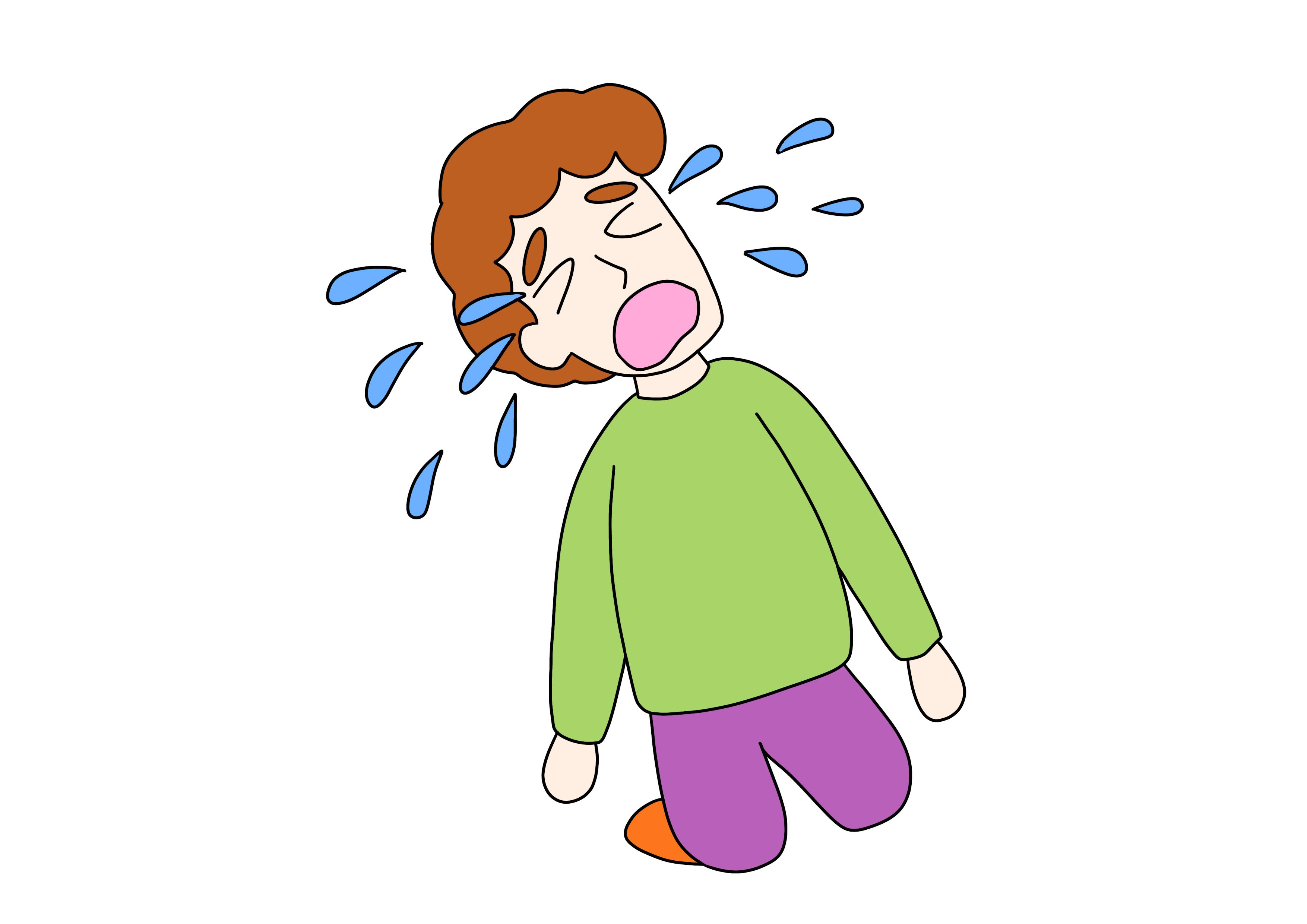 44課イラスト【泣く/号泣】