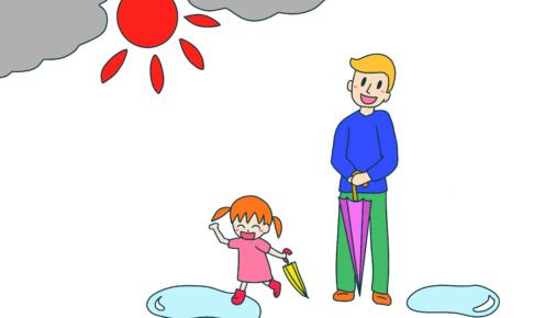 32課イラスト【雨がやむ/雨上がり】