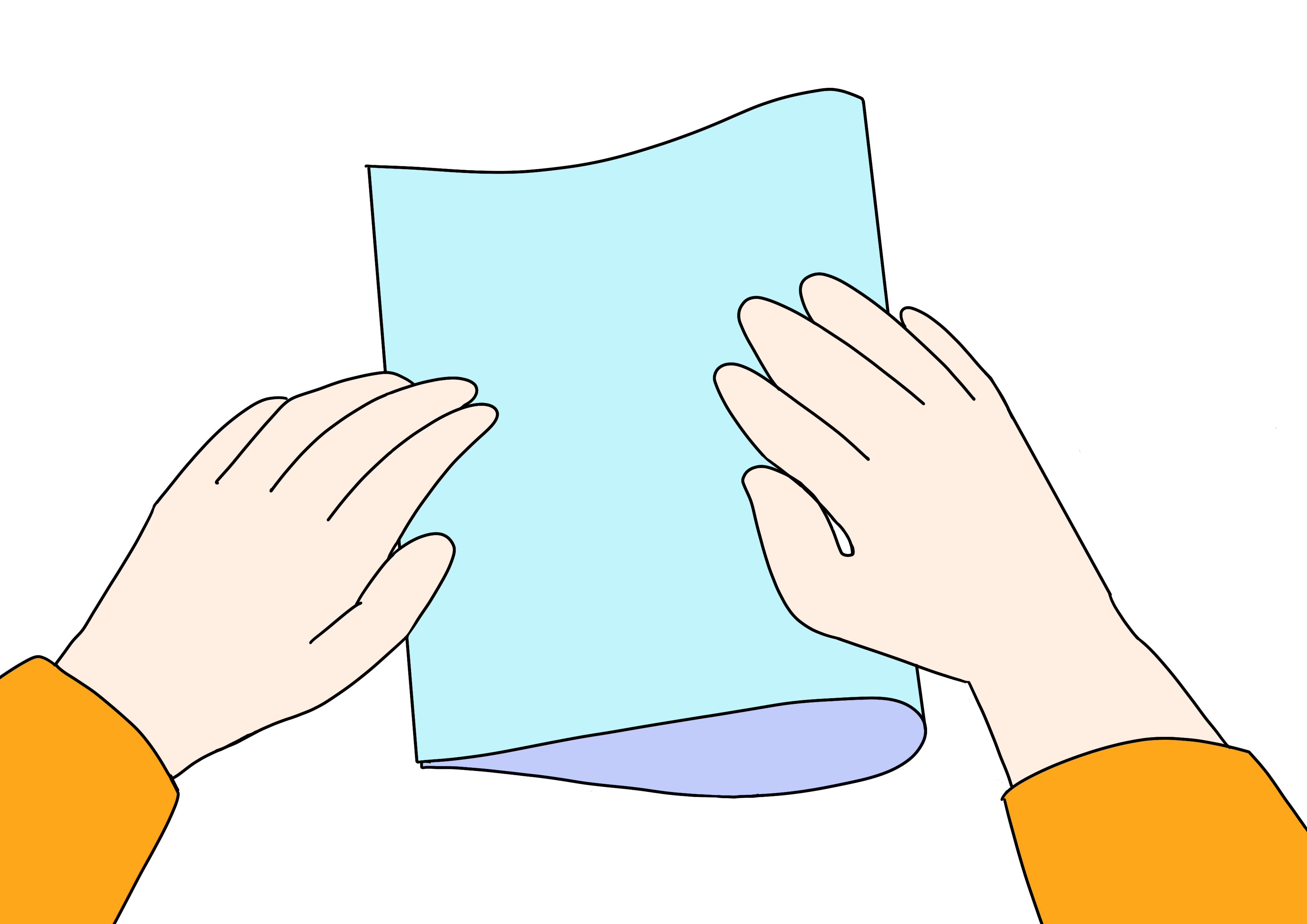 34課イラスト【紙を折る】