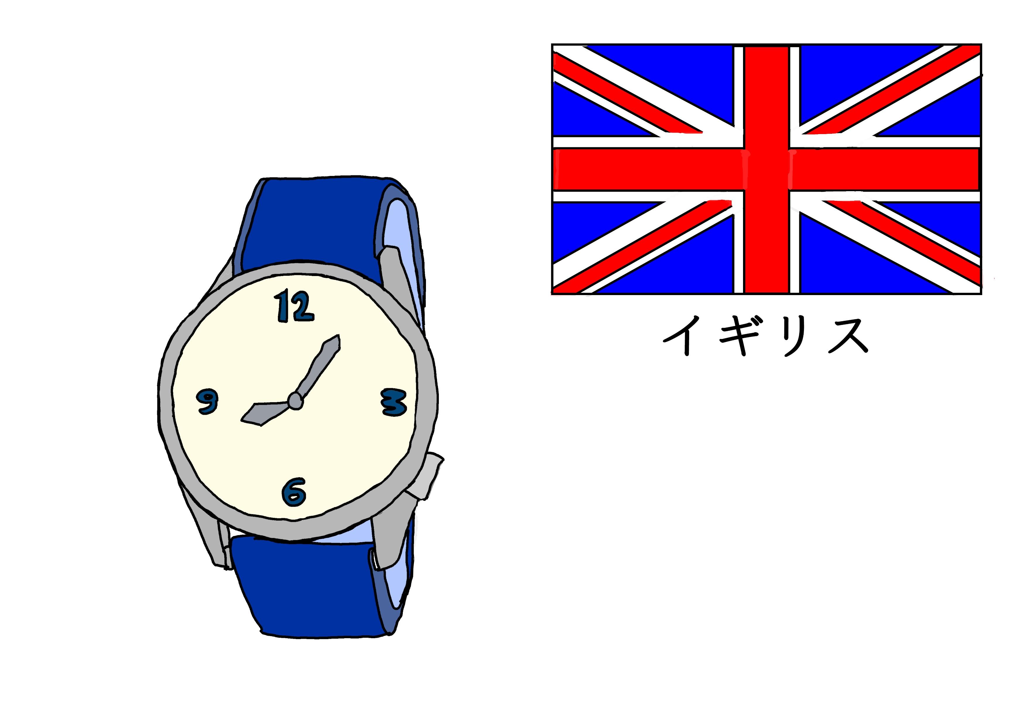 3課イラスト【イギリスの時計】