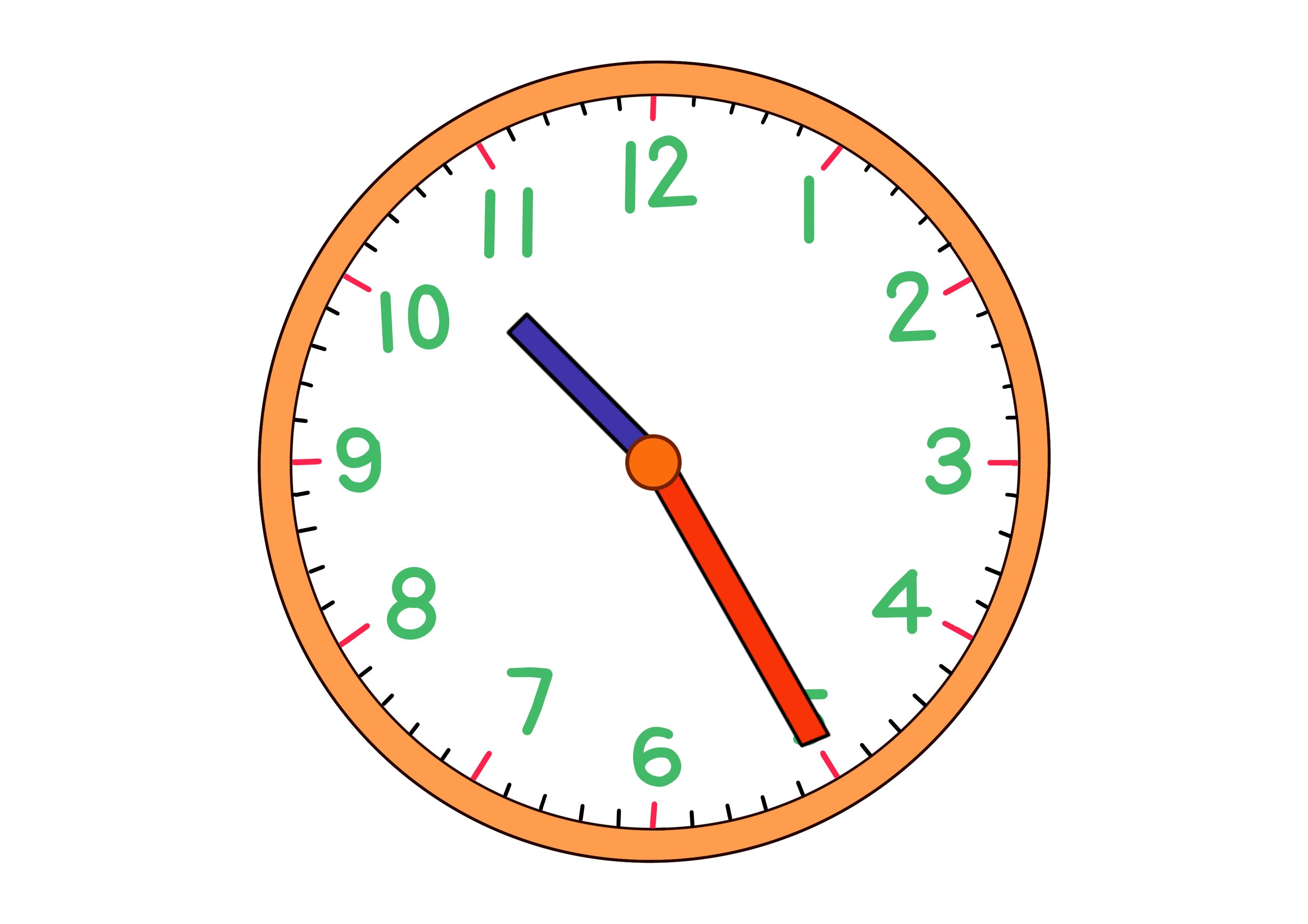時計イラスト【10時25分】