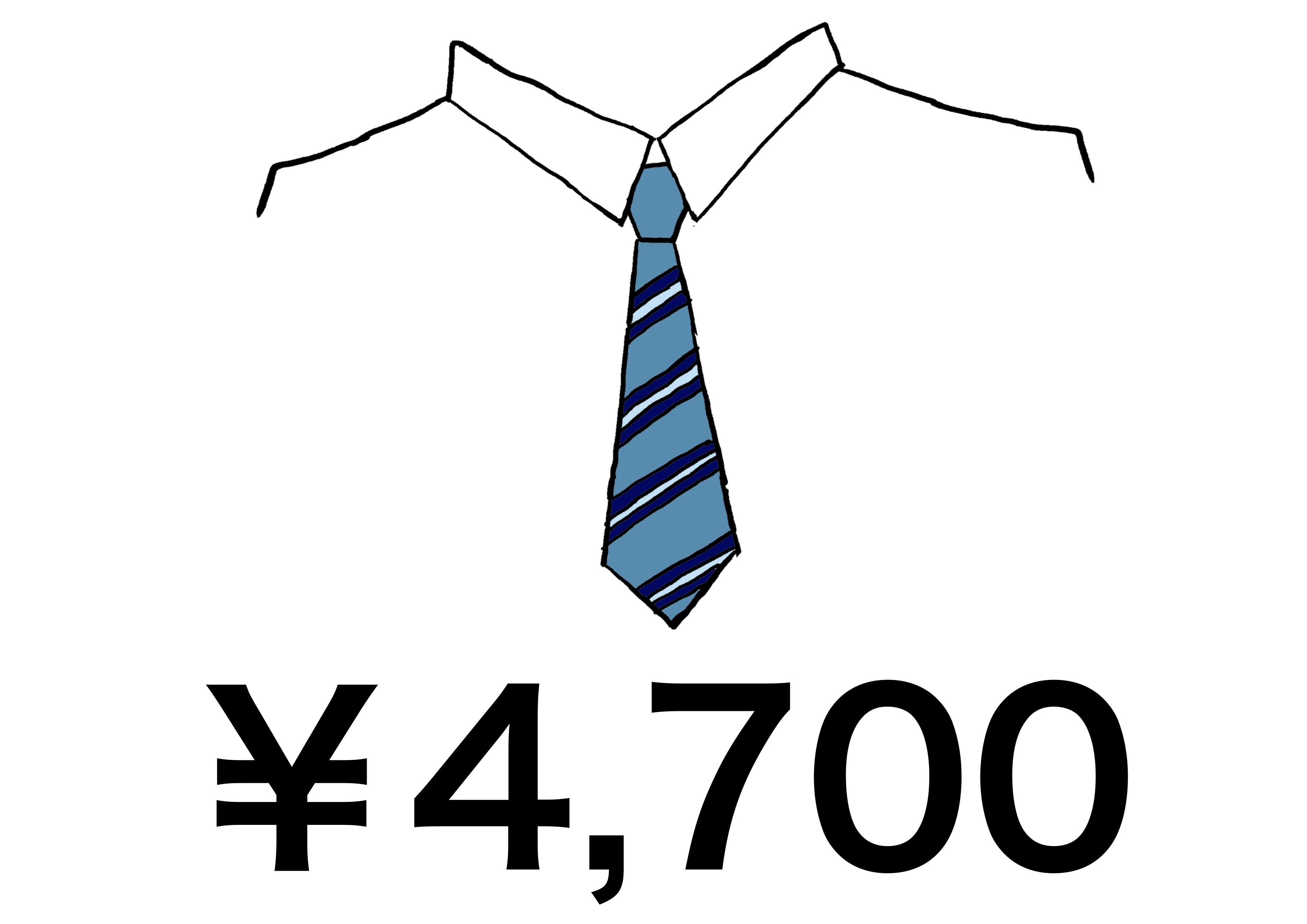 3課イラスト【ネクタイの値段】
