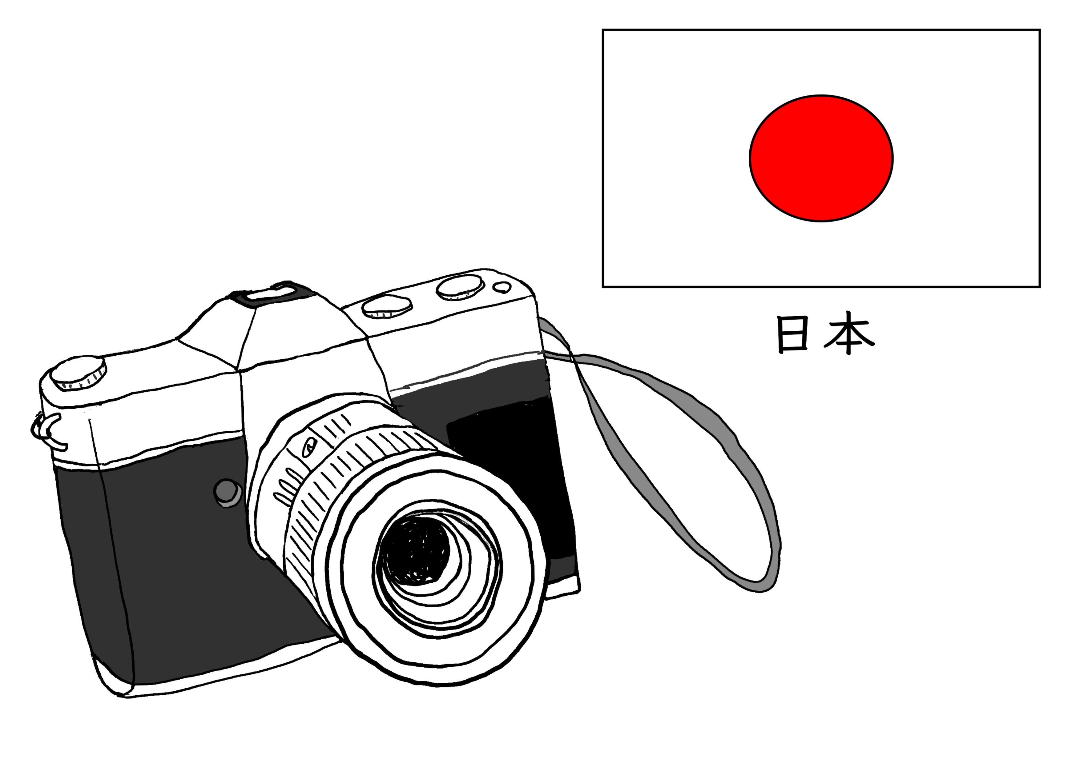 3課イラスト【日本のカメラ】