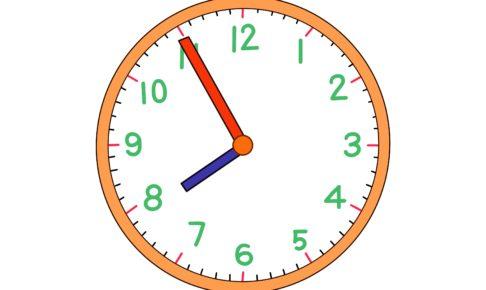 時計イラスト【8時55分】