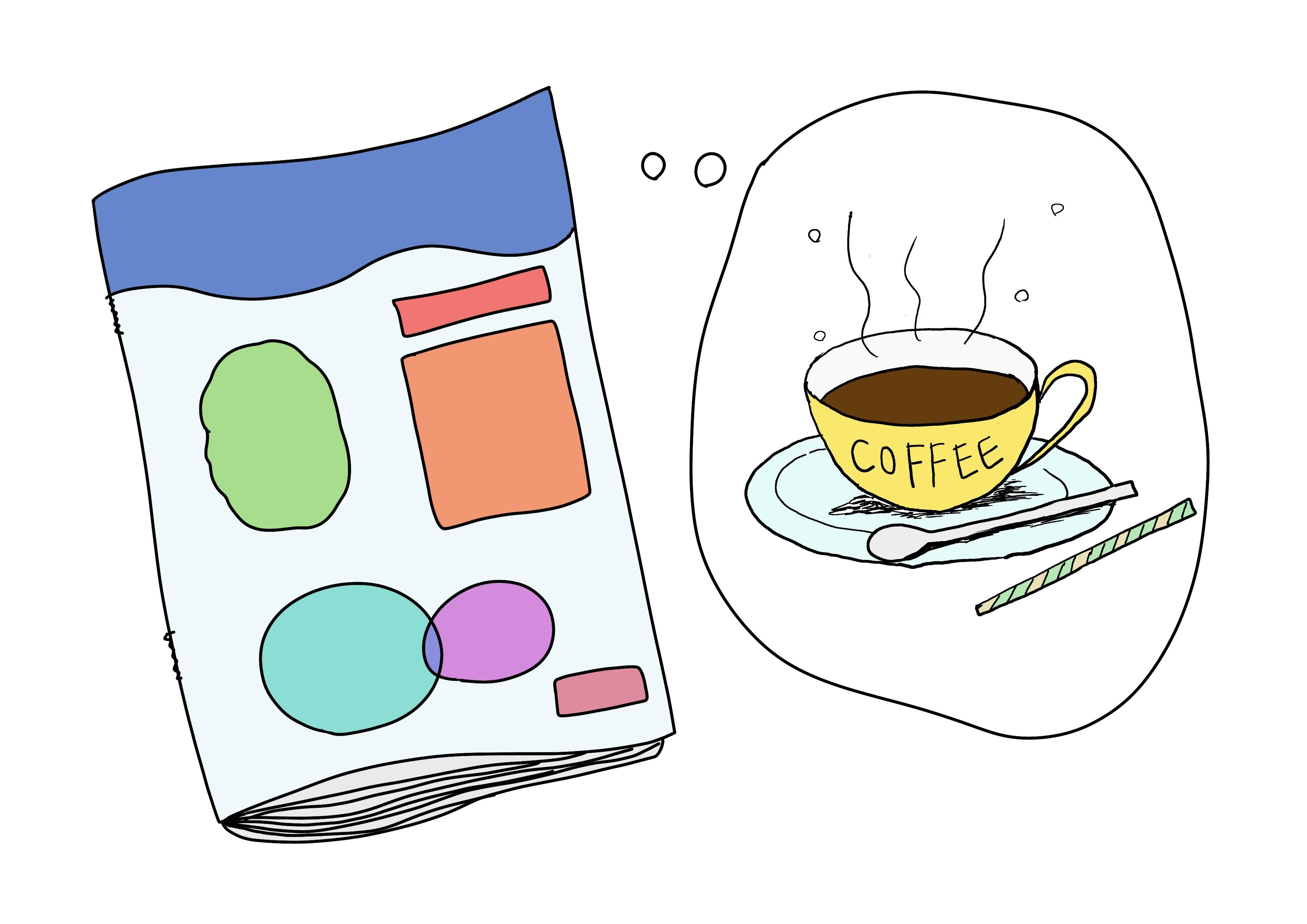 2課イラスト【コーヒーの雑誌】
