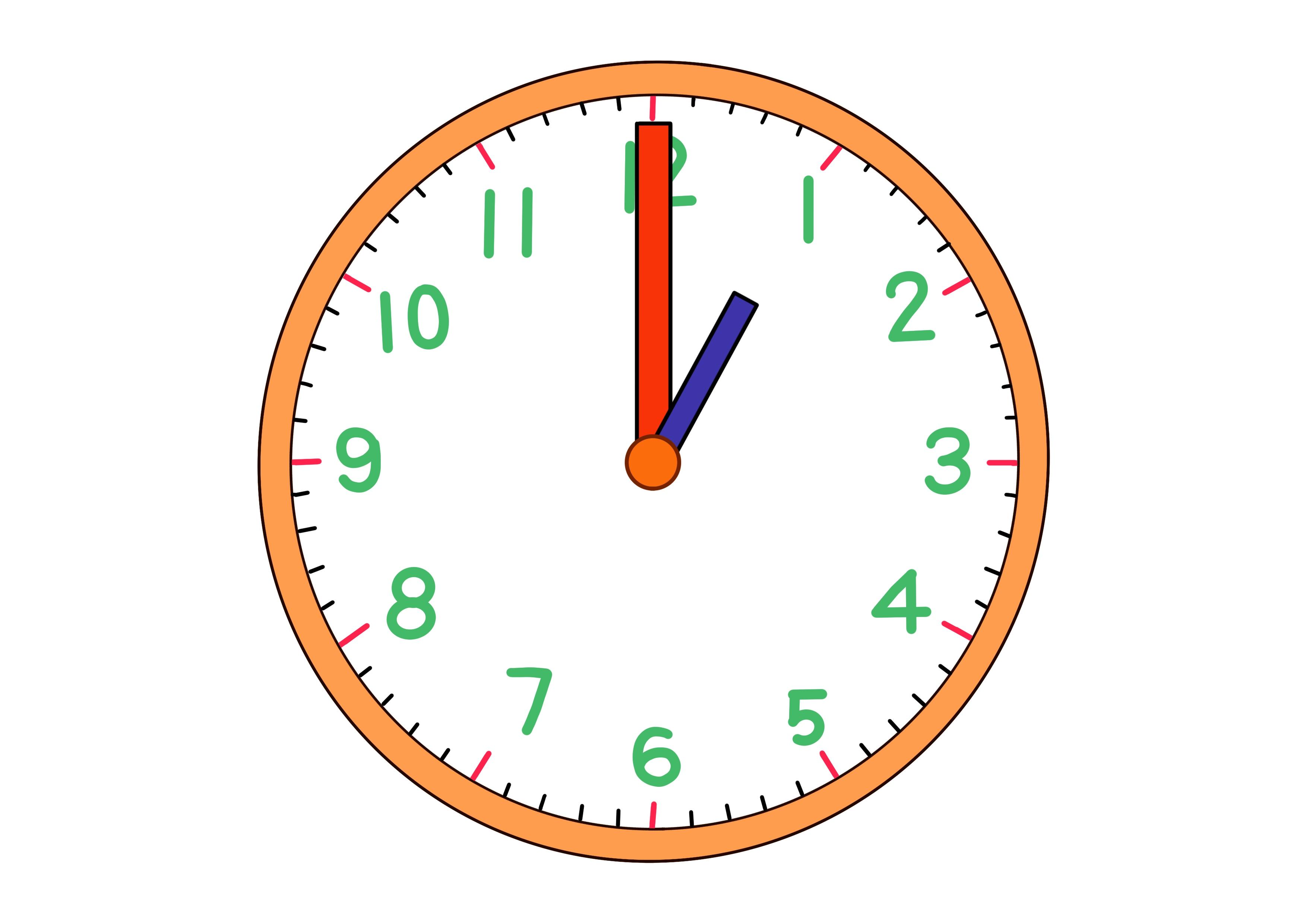 時計イラスト【1時】