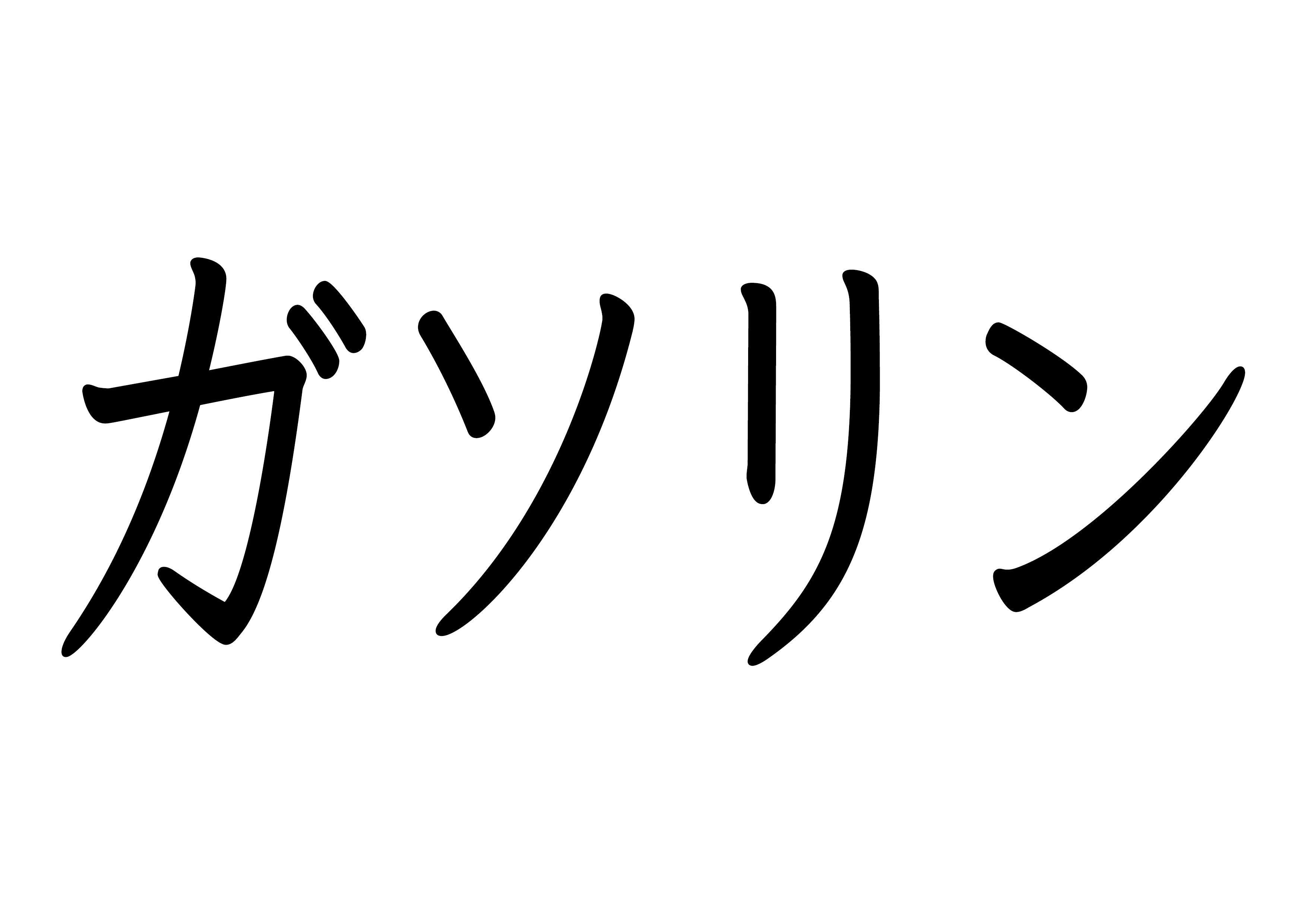 カタカナ【ガソリン】