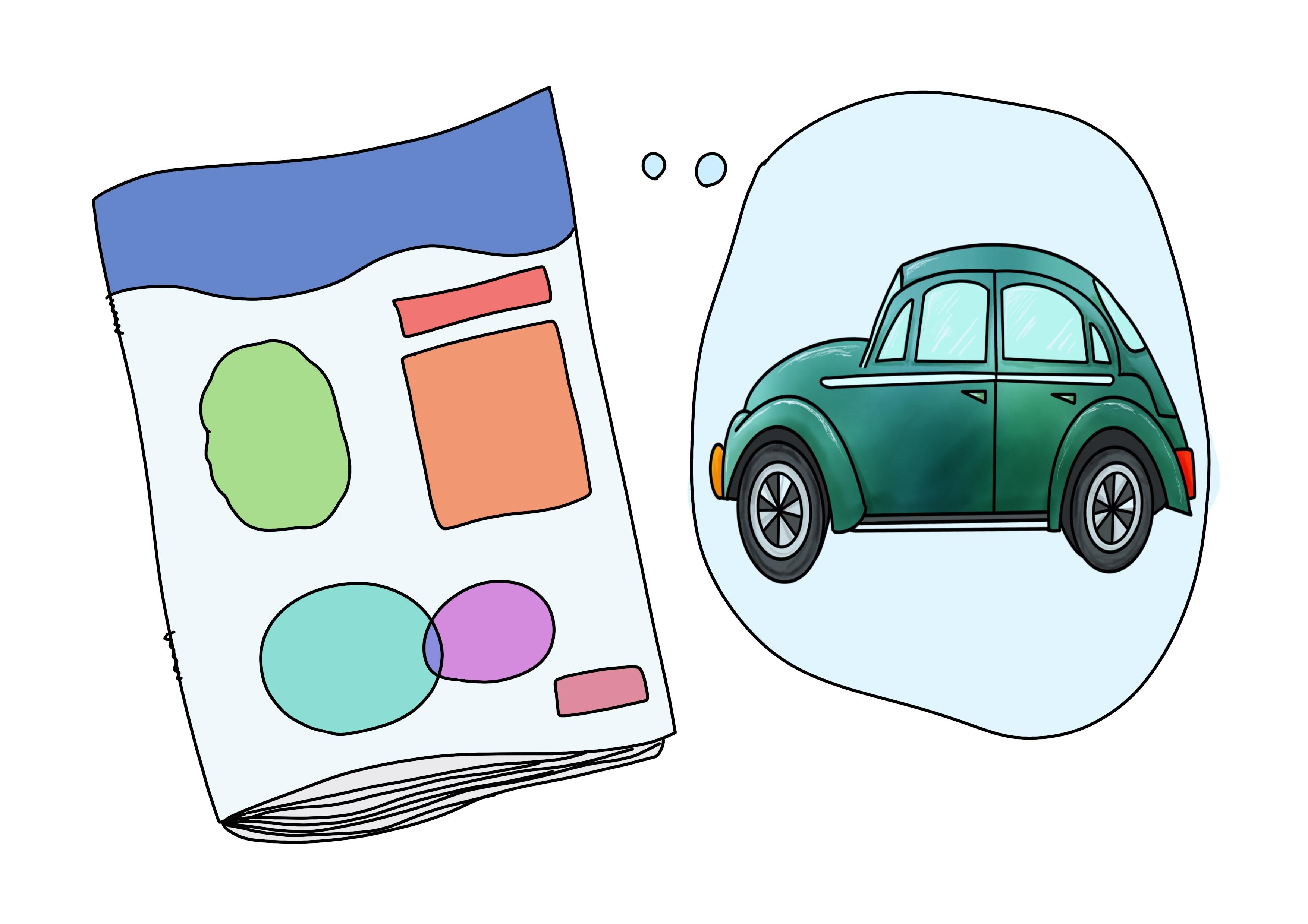 2課イラスト【車の雑誌】