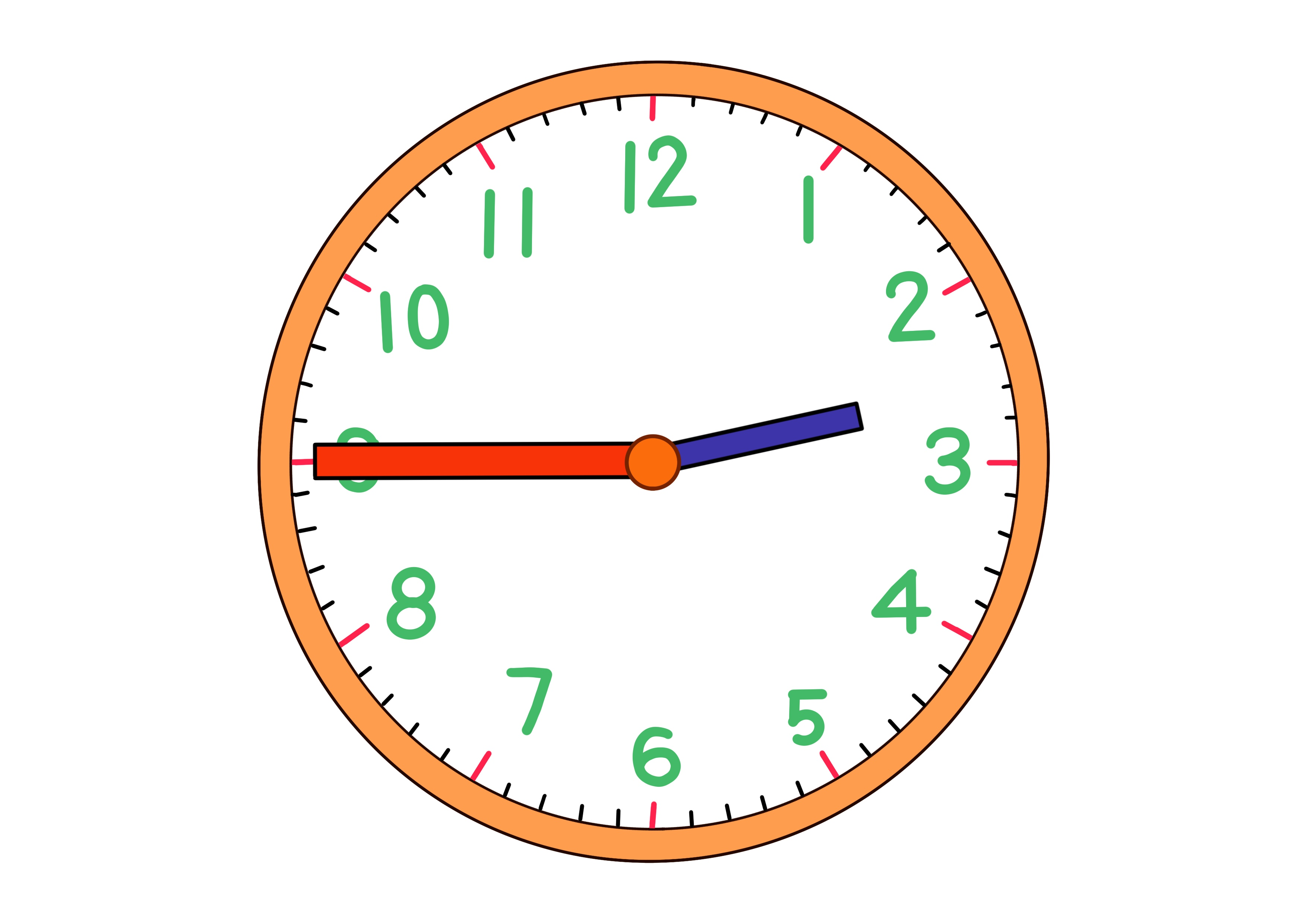 時計イラスト【2時45分】