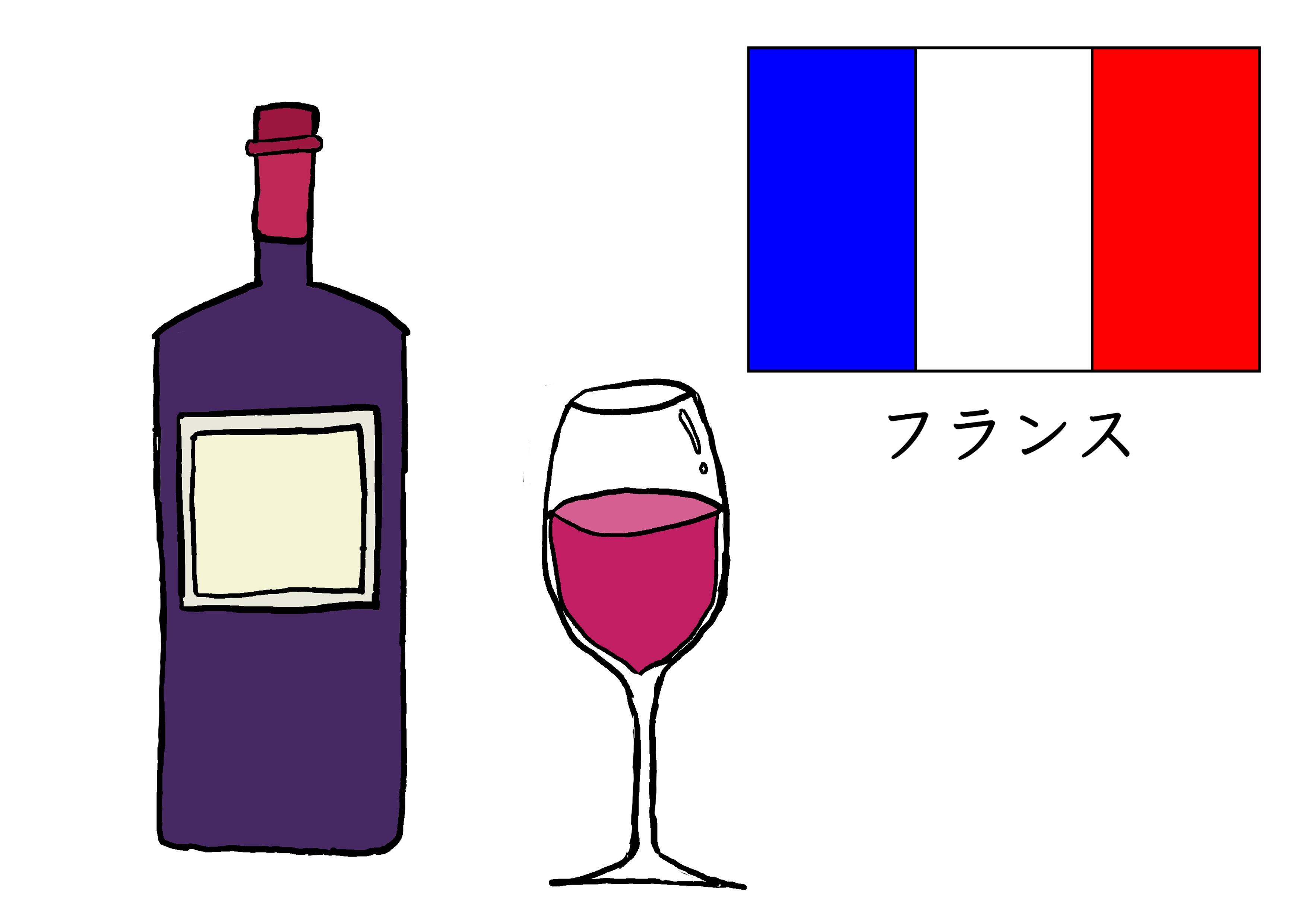 3課イラスト【フランスのワイン】