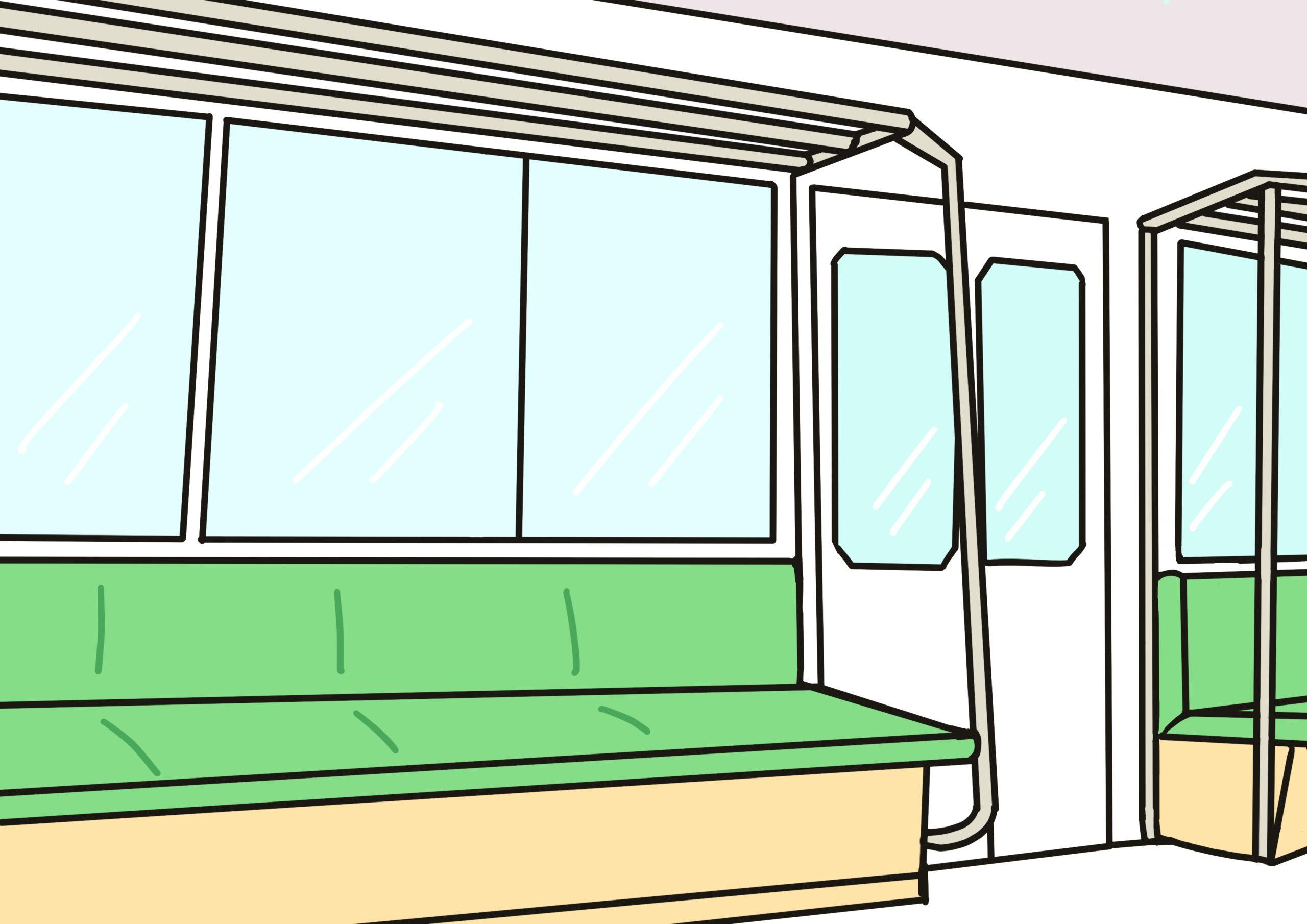 イラスト電車の中